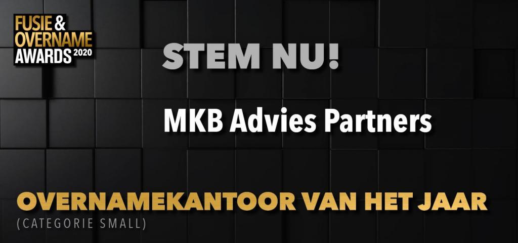 MKB Advies weer genomineerd voor Overnamekantoor van het jaar